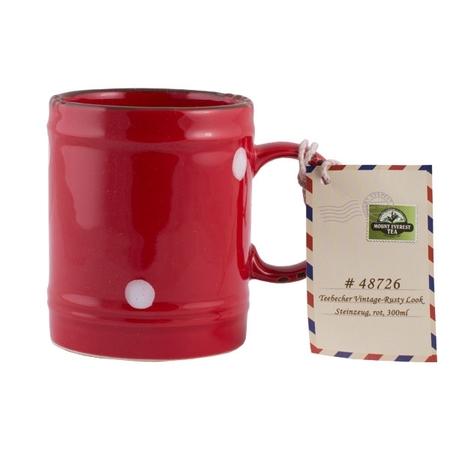 Mount Everest Tea - Kubek Rusty Look 300ml - Czerwony