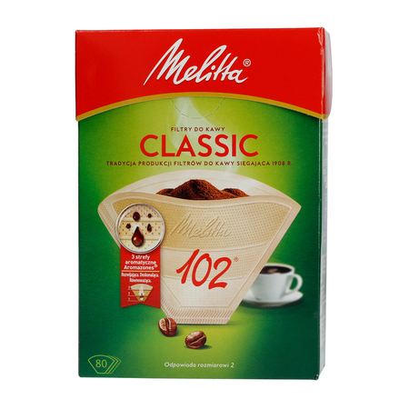 Melitta papierowe filtry do kawy 102 - classic - 80 sztuk
