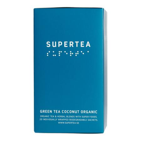 Teministeriet - Supertea Green Tea Coconut Organic - Herbata 20 Torebek
