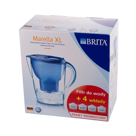 Brita Marella XL - dzbanek niebieski 3,5l + 4 wkłady Maxtra