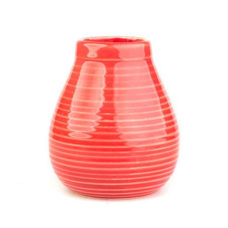 Mate Rustico - Ceramiczne  naczynie do yerba mate - Czerwone