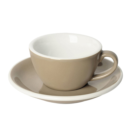 Loveramics Egg - Filiżanka i spodek Flat White 150 ml - Taupe