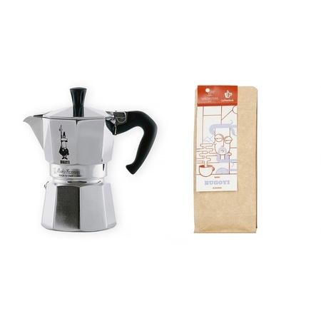 Zestaw Prezentowy: Kawiarka Bialetti Moka Express 3tz + kawa