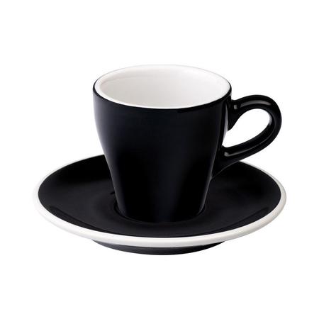 Loveramics Tulip - Filiżanka i spodek Espresso 80 ml - Black