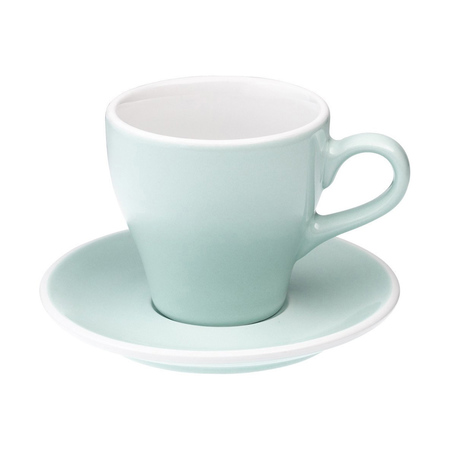 Loveramics Tulip - Filiżanka i spodek Cafe Latte 280 ml - River Blue