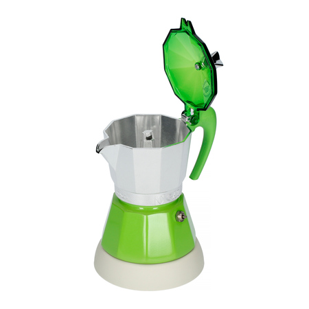 Kawiarka elektryczna ze spieniaczem G.A.T. Gatpuccino 4tz - Zielona