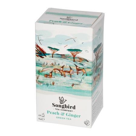 Songbird - Peach & Ginger - Herbata sypana 75g