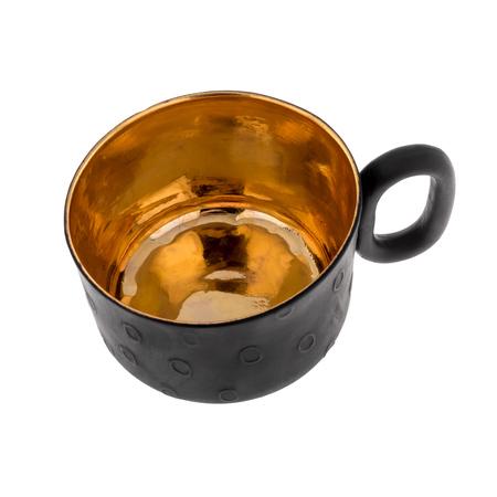 ENDE - Filiżanka 150ml - Oh Joy z czarnej porcelany zdobiona złotem