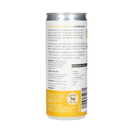 Teapigs Lemongrass and Ginger Kombucha - Trawa cytrynowa i imbir - Napój 250ml
