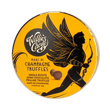 Willie's Cacao - Trufle- CHAMPAGNE  Dark chocolate with Marc de Champagne 110g (outlet)