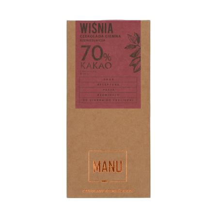 Manufaktura Czekolady Czekolada MANU Wiśnia czekolada ciemna 70% kakao 50g (outlet)