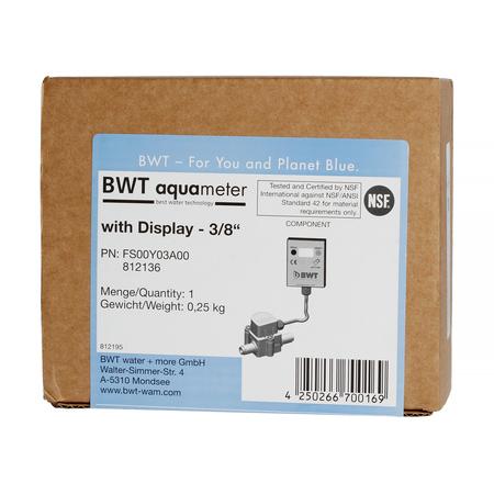 BWT Aquameter Bestmax - Przepływomierz z wyświetlaczem LCD