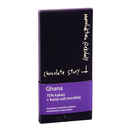 Manufaktura Czekolady - Czekolada 70% kakao z Ghany - kwiat soli morskiej