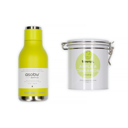 Zestaw Butelka Termiczna Asobu + Herbata Teapigs Apple & Cinnamon