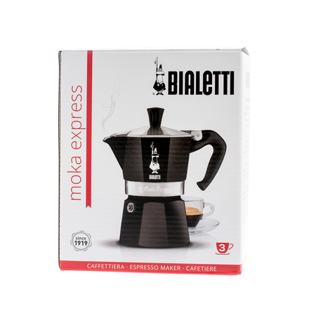 Bialetti kawiarka Moka Express 3tz czarna (outlet)