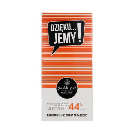 Manufaktura Czekolady - Czekolada 44% DZIĘKU...JEMY! - Pomarańczowe opakowanie