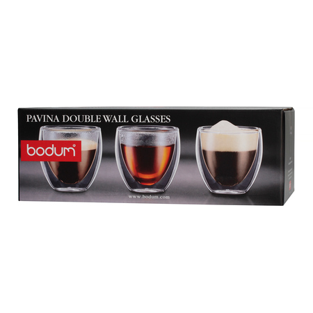 Bodum Pavina Szklanki z podwójnymi ściankami 80 ml - 6 sztuk