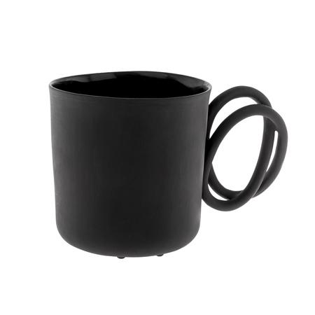 ENDE - Kubek 250ml - Twist z czarnej porcelany