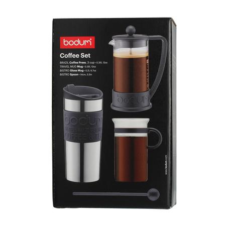 Bodum Coffee Set - French Press + Kubek Termiczny + Szklanka + Łyżka