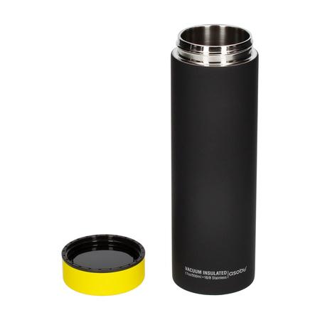 Asobu - Le Baton Czarny / Żółty - Butelka termiczna 500ml