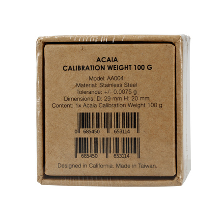 Acaia 100g Callibration Weight - Odważnik do kalibracji