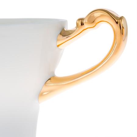 ENDE - Kubek 200ml - Główka z porcelany zdobiona złotem