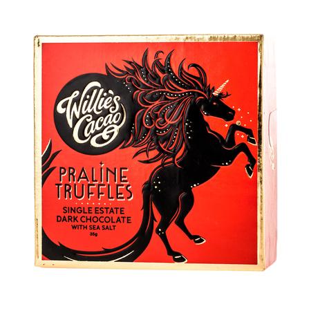 Willie's Cacao - Czekoladki - Praline Truffles Dark Chocolate with Sea Salt 35g (outlet)