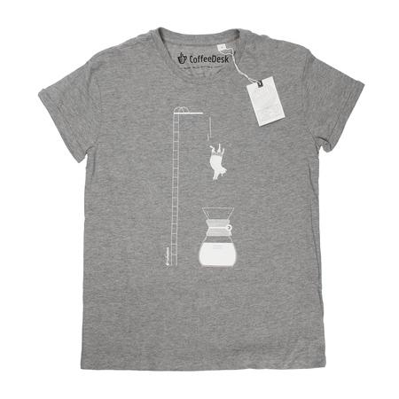 Koszulka Coffeedesk Chemex Szara - Męska S