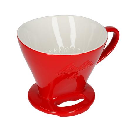 Melitta porcelanowy filtr do kawy 1x4 - Czerwony