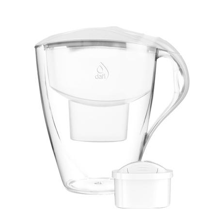 Dafi - Dzbanek filtrujący Omega 4,0L LED + 1 filtr Unimax - Biały