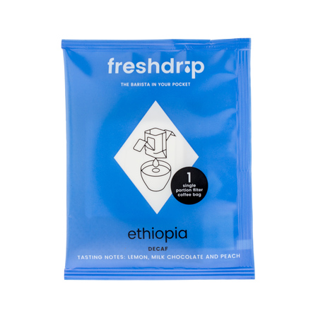 Freshdrip - No.4 Ethiopia Shikasso Farm - Kawa bezkofeinowa - 1 saszetka