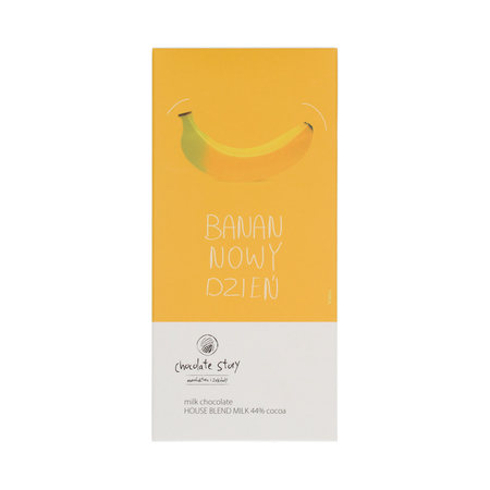 Manufaktura Czekolady - Czekolada 44% Banan Nowy Dzień - House Blend Milk