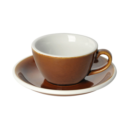Loveramics Egg - Filiżanka i spodek Flat White 150 ml - Caramel