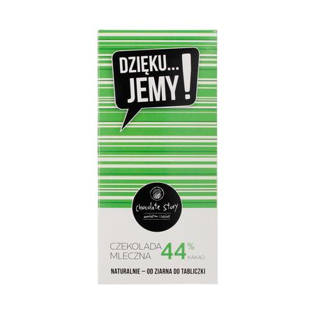 Manufaktura Czekolady - Czekolada 44% DZIĘKU...JEMY! - Zielone opakowanie