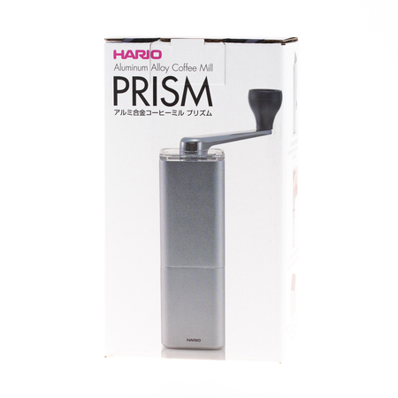 Hario - PRISM Aluminum Alloy Coffee Mill Srebrny