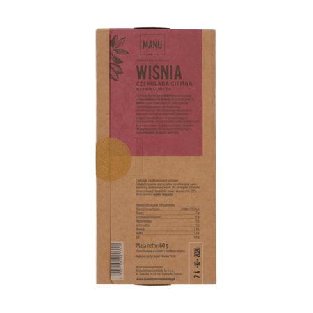 Manufaktura Czekolady - Czekolada MANU 70% - Wiśnia