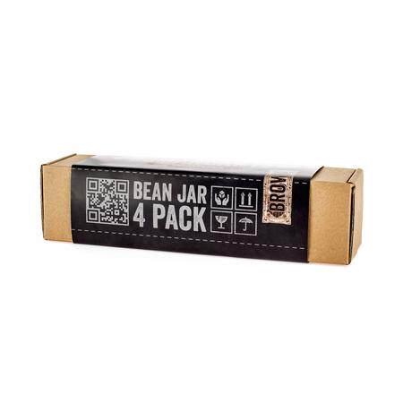 Comandante Bean Jar Brown Glass - Brązowy słoik na zmieloną kawę - 4 sztuki