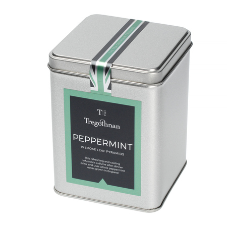 Tregothnan - Peppermint - Herbata 15 piramidek - Puszka