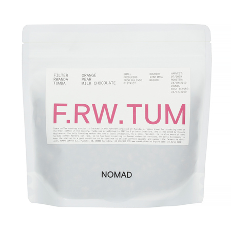 Nomad Rwanda Rulindo District Tumba Washed FIL 250g, kawa ziarnista (outlet)