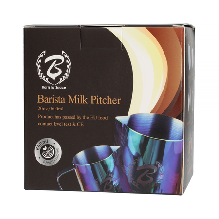 Barista Space - Dzbanek do mleka czarny 600 ml