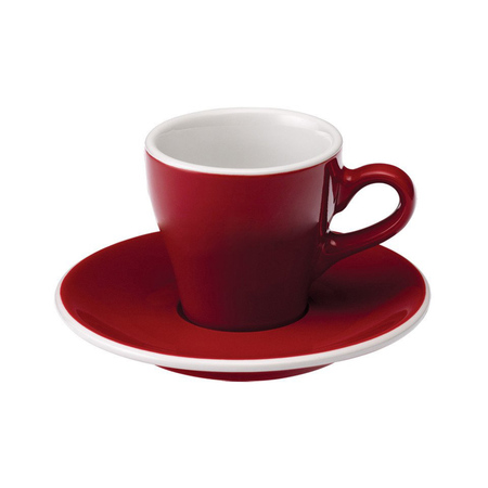 Loveramics Tulip - Filiżanka i spodek Espresso 80 ml - Red