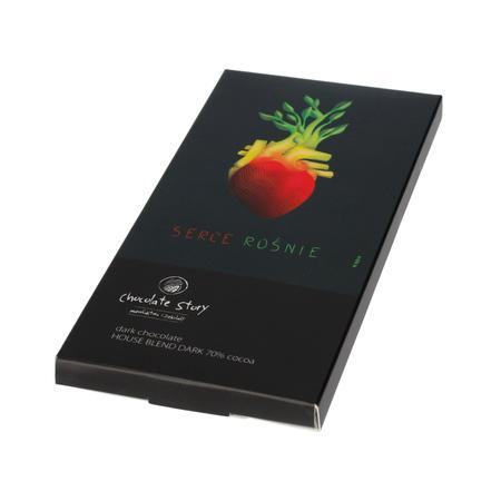 Manufaktura Czekolady - Czekolada 70% Serce Rośnie - House Blend Dark Kakao