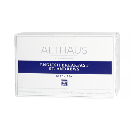 Althaus - English Breakfast St. Andrews Grand Pack - Herbata 20 dużych saszetek