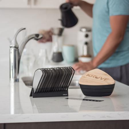 Kruve Sifter Max - Black - Odsiewacz do kawy z 25 sitkami