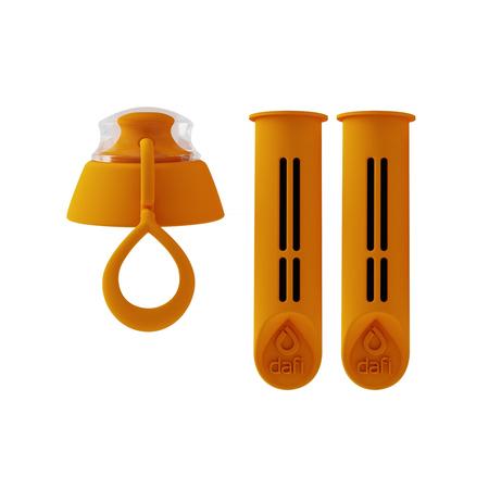 Dafi - 2 filtry do butelki + zakrętka - Pomarańczowy