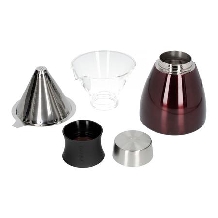 Asobu - Pourover Insulated Coffee Maker - Czerwony / Czarny