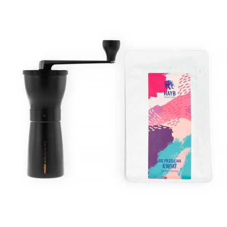 Zestaw Młynek + Kawa HAYB