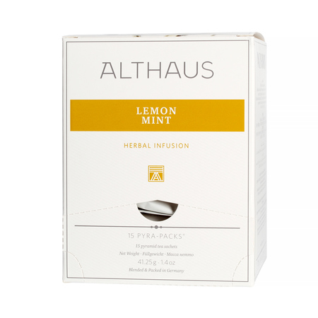 Althaus - Lemon Mint Pyra Pack - Herbata 15 piramidek