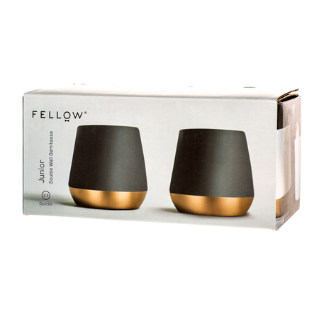 Fellow Junior Demitasse - Kubek czarny 70 ml - 2 sztuki