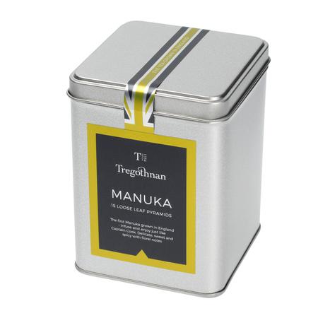 Tregothnan, herbata w puszce 15 piramidek, Manuka Tea Caddy (outlet)